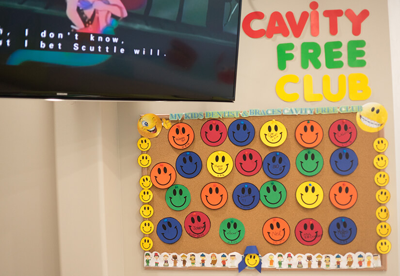 Cavity Free Club photo for MV Kids Dentists and Braces in Mountain View, CA